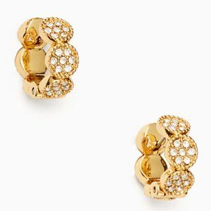 NEW Kate Spade Gatsby Dot Huggies Earrings